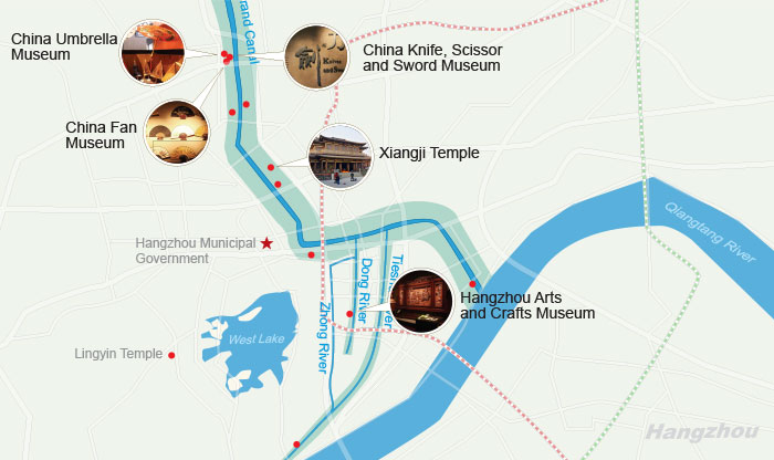Hangzhou Grand Canal Attractions